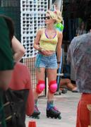 Julianne Hough Wearing Daisy Dukes and Roller Blades in Miami on May 23, 2011
