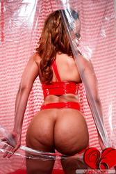 Vickie 6's Nude Body In Red body ribbons: image #12